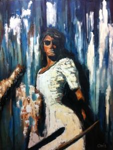 """Self-portraitOil on Canvas, 40"""" x 30"""""""
