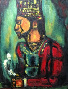 "Study of Rouault's The Old KingOil on Canvas, 30"" x 24"""