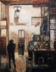 "Mercado de San Miguel, oil on canvas, 30"" x 24"""